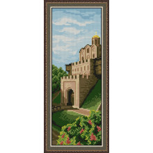 "Cross-Stitch Kit ""Golden gates""  Ledi 1025"