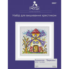 "Cross-Stitch Kit ""September House"" Iris Design 05937"