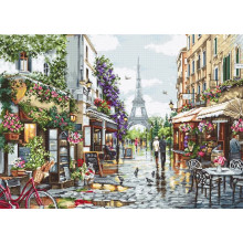 Набір для вишивання хрестиком, Luca-S, Квітучий Париж (B2365)