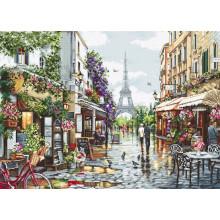 Набор для вышивания крестиком, Luca-S, Цветущий Париж (B2365)