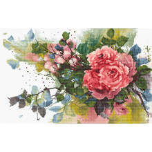 "Cross-Stitch Kit ""Red roses""  Luca-S (B2383)"