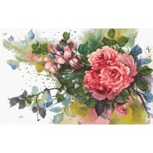 Набір для вишивання хрестиком, Luca-S, Червоні троянди (B2383)