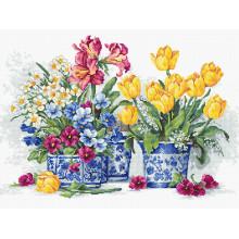 Набір для вишивання хрестиком, Luca-S, Весняний сад (B2385)