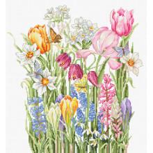 "Cross-Stitch Kit ""March bouquet""  Luca-S (B2388)"