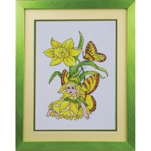 Fairy of Daffodils, crosstitch PDF chart