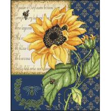 """Cross-Stitch Kit """"Sunflower melody""""  LETISTITCH (L998)"""