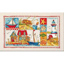 "Cross-Stitch Kit ""Gone to the Beach""  LETISTITCH (L999)"
