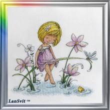 "Cross-Stitch Kit ""Three Wishes"" LanSvit D-027"