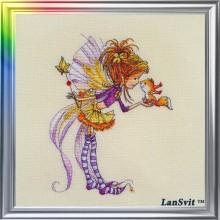 Набор для вышивания крестиком ЛанСвит, Осеннее настроение (Д-051)