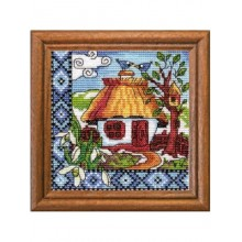 Набір для вышивання хрестиком, Леді, Весняна Україна, серія Хатки 01271