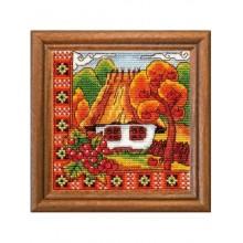 Набір для вишивання хрестиком, Леді, Осiння Буковина, серія Хатки (01270)
