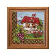 Набір для вишивання хрестиком Леді, Виноград Бесарабії серія Хатки (01296)