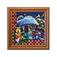 Набор для вышивания крестиком Леди, Рождественская ночь серия Хатки (01304)