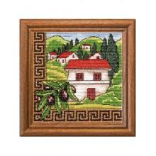 Набор для вышивания крестиком, Леди, Оливки Греции, серия Хатки (01277)