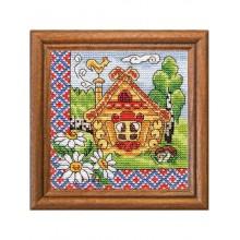 Набор для вышивания крестиком Леди, Русский теремок, серия Хатки (01278)