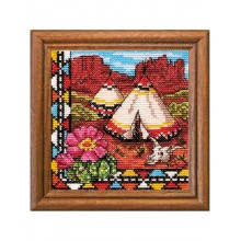 "Cross-Stitch Kit ""Indian Wigwam"" Ledi 01279"