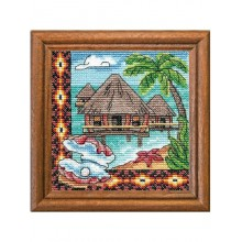 "Cross-Stitch Kit ""Oceania Bungalow"" Ledi 01280"