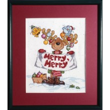 "Cross-Stitch ""Merry Merry Moose"" Design Works 1059"