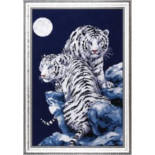 "Cross-Stitch Kit ""Moonlit Tigers"" Design Works 2544"