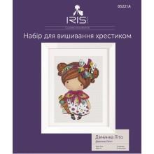 Набор для вышивания крестиком Iris Design, Девочка Лето, на Аиде (05221A)