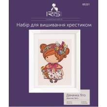 "Cross-Stitch Kit ""Girl Summer"" Iris Design 05221"