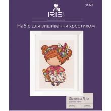 "Cross-Stitch Kit ""Girl Summer"" Iris Design 05221"