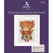 "Cross-Stitch Kit ""Girl Autumn"" Iris Design 05319A"