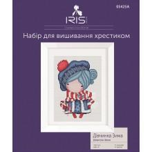 Набор для вышивания крестиком Iris Design, Девочка Зима на Аиде (05425A)