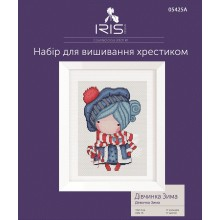 Набір для вишивання хрестиком Iris Design, Дівчинка Зима на Аіді (05425A)