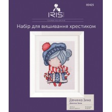 "Cross-Stitch Kit ""Girl Winter"" Iris Design 05425"