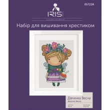 "Cross-Stitch Kit ""Girl Spring"" Iris Design 05723A"