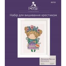"Cross-Stitch Kit ""Girl Spring"" Iris Design 05723"