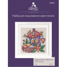 "Cross-Stitch Kit ""April House"" Iris Design 05633"