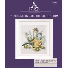 Набір для вишивання хрестиком Iris Design, Натюрморт з оливками (05139)