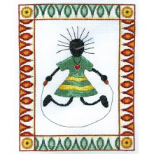 Mukeni (Happy Girl), Cross-Stitch Kit Anchor EPX819