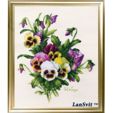 "Cross-Stitch Kit ""Pansies""  LanSvit А-005"