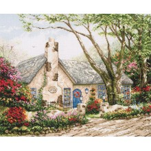 "Cross-Stitch Kit ""Morning Glory Cottage"" Anchor 56780000-01080"