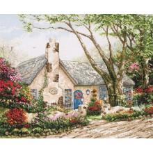 "Cross-Stitch Kit ""Morning Glory Cottage"" Anchor 56780000-01080"