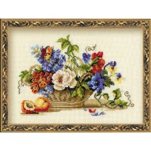 "Cross-Stitch Kit ""Still Life with Peach""  Riolis 864"