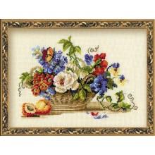 Натюрморт с персиком, набор для вышивания Риолис 864