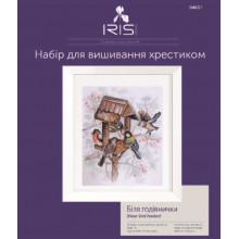 Біля годівнички, набір для вишивання Iris Design 04621