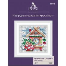 "Cross-Stitch Kit ""January House"" Iris Design 06147"