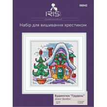 "Cross-Stitch Kit ""December House"" Iris Design 06042"