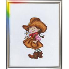 Набор для вышивания крестиком ЛанСвит, Цветок прерий (Д-041)