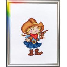 Набір для вишивання хрестиком ЛанСвіт, Помічниця шерифа (Д-035)