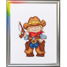 Набор для вышивания крестиком ЛанСвит, Храбрый шериф (Д-034)