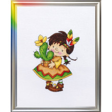 "Cross-Stitch Kit ""Daughter of Great Plains"" LanSvit D-032"