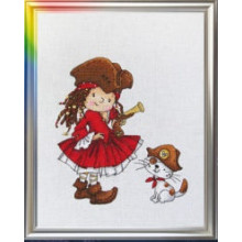 "Cross-Stitch Kit ""With Us You Will Never Get Bored!"" LanSvit D-031"