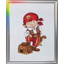 "Cross-Stitch Kit ""I Won't Let You Get into Trouble!"" LanSvit D-030"