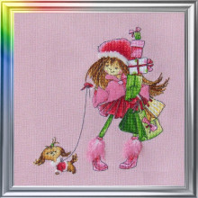 "Cross-Stitch Kit ""Two Girlfriends Walking"" LanSvit D-028"